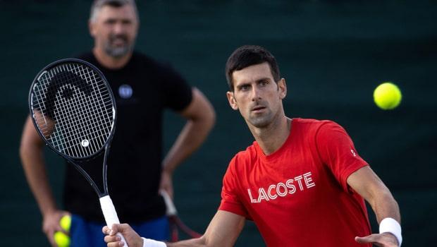 Goran Ivanisevic and Novak Djokovic